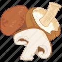 cooking, mushroom, vegetable, veggie, wild