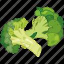 broccoli, cooking, greens, vegetable, veggie