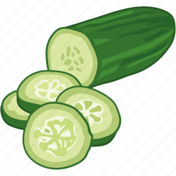 chopped, cooking, cucumber, vegetable, veggie icon