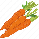 carrot, cooking, root, vegetable, veggie icon