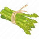 asparagus, cooking, greens, stalk, vegetable, veggie icon