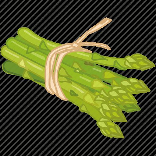 asparagus, cooking, greens, stalk, vegetable, veggie icon