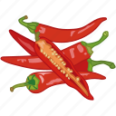 chilli, peppers, spicy, vegetable, veggie icon