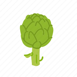 artichoke, farm, food, organic, vegetable, vegetarian icon