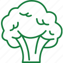 broccoli, broccoli salad, broccoli soup, vegetables icon icon