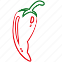 chili, chili powder, chill pepper, red chilli, vegetables icon icon