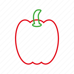 bellpepper, coloredbeans, cook, food, kitchen, red, vegetable, veggies icon