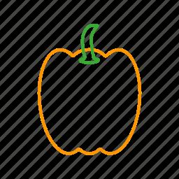 bellpepper, coloredbeans, cook, food, kitchen, orange, vegetable, veggies icon