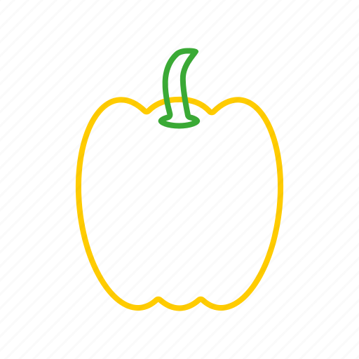 bellpepper, bellpepper4, coloredbeans, cook, food, kitchen, vegetable, veggies, yellow icon