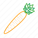 carrot, coloredbeans, cook, food, kitchen, orange, vegetable, veggies icon