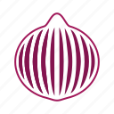 coloredbeans, cook, food, kitchen, onion, purple, vegetable, veggies icon