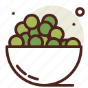 beans, garden, agriculture, gree, vegetable, bowl icon