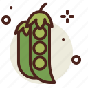 agriculture, garden, pea, vegetable icon