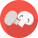 champignon, food, kitchen, meal, mushrooms, plant, vegetable icon