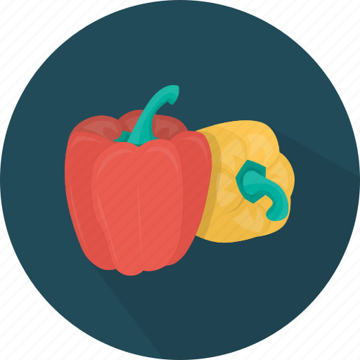 bell pepper, food, kitchen, meal, pepper, plant, vegetable icon