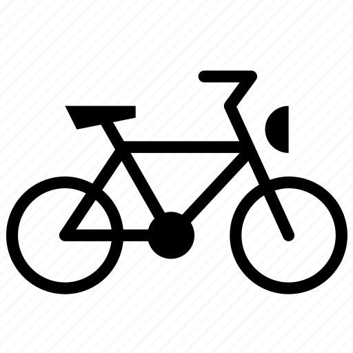 bicycle, side, transport, vehicle icon