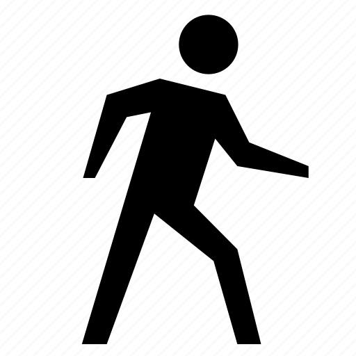 man, person, sign, walking icon