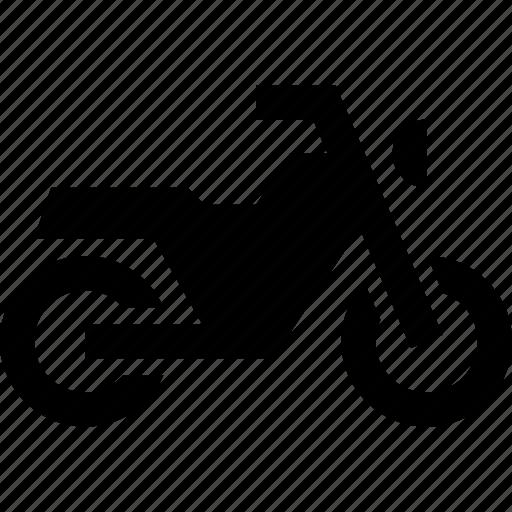 bike, motorbike, motorcycle, side, vehicle icon