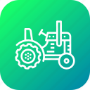 agriculture, farm, farming, tractor, transport, vehicle, work icon