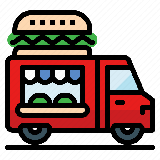 food, moving, restaurant, service, truck, vehicle icon