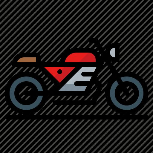 bike, cafe, motorbike, motorcycle, racer icon