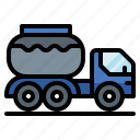 carrier, fuel, liquid, tank, transport, truck, vehicle icon