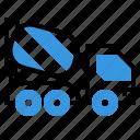 concrete, construction, mixer, truck, vehicle icon