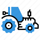 agriculture, farm, tracter, vehicle icon