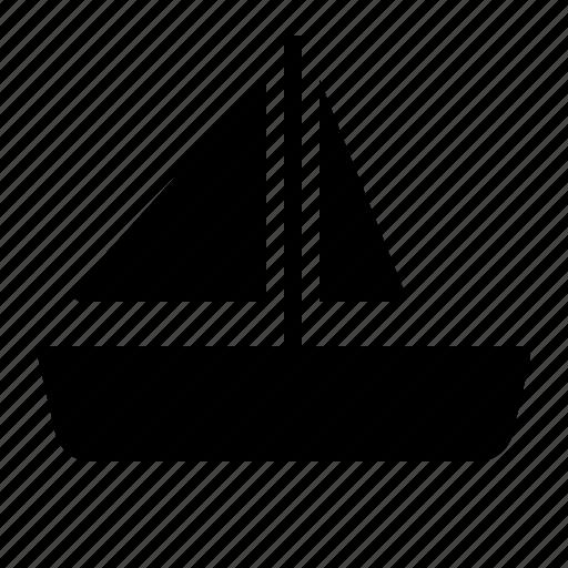 sail, sailing, ship, transportation, vehicle icon