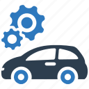 auto service, car repair, engine, fix, machine, mechanic, tools icon