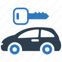 auto, car rental, locked, locked parking, parking, protection, vehicle icon
