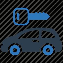 auto, car rental, locked, locked parking, parking, protection, vehicle icon