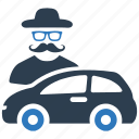 auto insurance, car insurance, protection, thief, vandalism icon