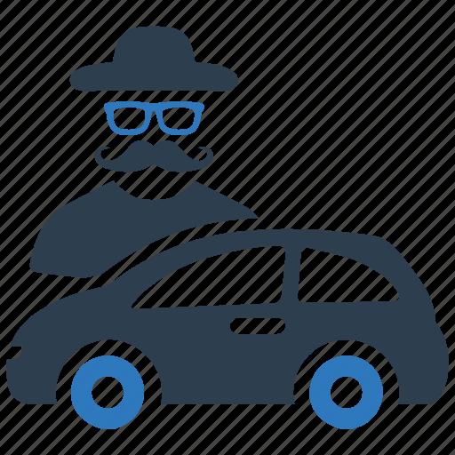 auto insurance, car insurance, protection, thief, vandalism icon
