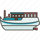 barge, cargo, ship, industrial, freight