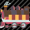 locomotive, train, rails, station, transportation