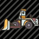 earth, mover, bulldozer, construction, machine