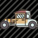 hot, rod, car, vintage, retro