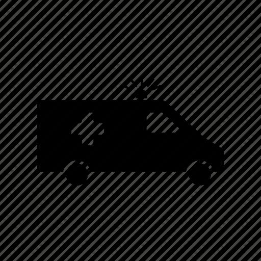 ambulance, emergency, van, vehicle icon