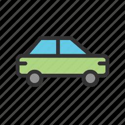 car, luxury, sedan, shape, transportation, vehicle, view icon