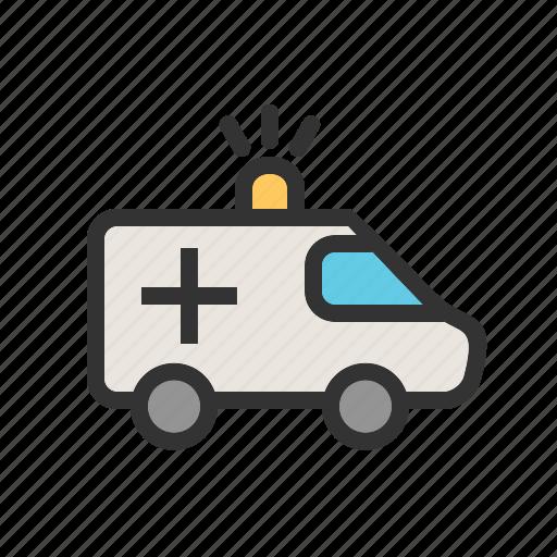 ambulance, deliver, emergency, health care, hospital, medical, vehicle icon