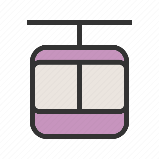 cable, car, lift, ride, sky, tourism, travel icon