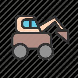 construction, dumper, equipment, excavator, machinery, truck, work icon
