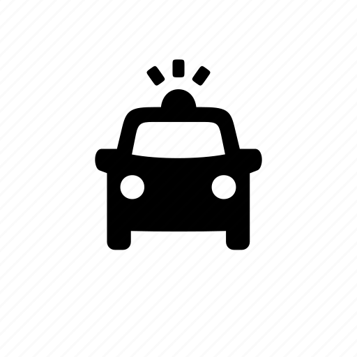 car, front, police, travel, vehicle icon