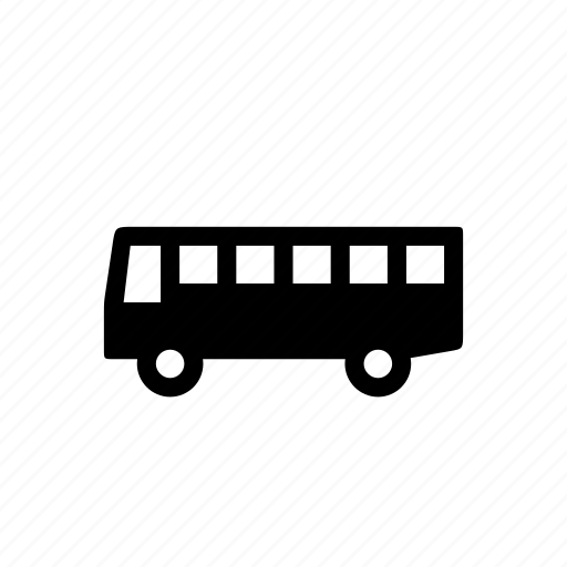 car, schoolbus, side, travel, vehicle icon