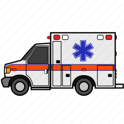 ambulance, emergency, first aid, health, healthcare, hospital, medical icon