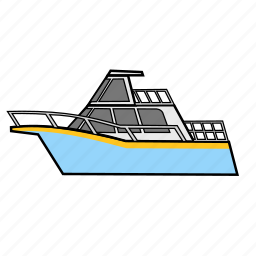 boat, cruise, ship, travel, vacation, yacht icon