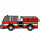 emergency, fire, fire engine, ladder truck, rescue truck, truck