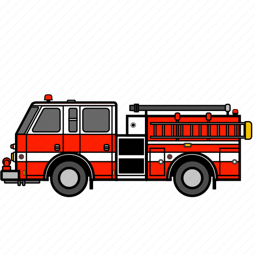 emergency, fire, fire engine, ladder truck, rescue truck, truck icon