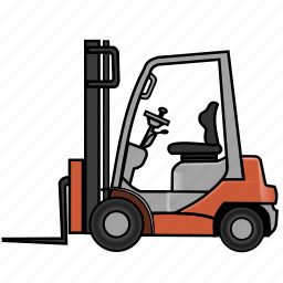cargo, fork truck, forklift, lift truck, logistics, shipping, truck icon